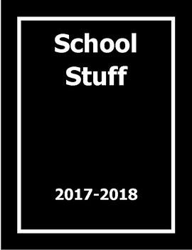 PRINTABLE TEACHER GRADEBOOK & PLANNER: Simple (Black)