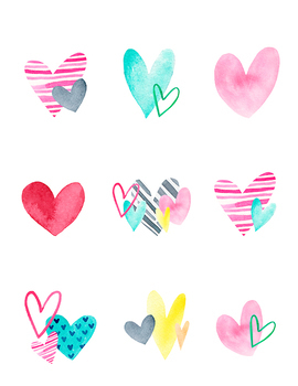 image relating to Valentine Heart Printable known as PRINTABLE Valentine Center Tags by means of Heather Tycksen TpT