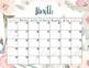 PRINTABLE blank monthly calendar - peach pistachio
