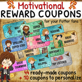 PRINTABLE reward COUPONS for Harry Potter fans - color - READY-TO-PRINT