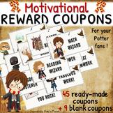 PRINTABLE reward COUPONS for Harry Potter fans - light parchment background