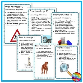 Mrs Ruberry's Class: We will be focusing on our prior ...  Prior Knowledge Reading