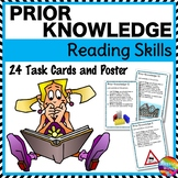 PRIOR KNOWLEDGE or INFERENCE Task Cards for READING COMPREHENSION SKILLS
