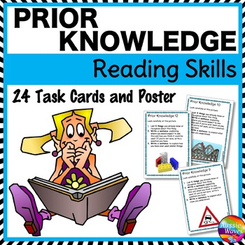 PRIOR KNOWLEDGE or INFERENCE Task Cards Improve READING CO