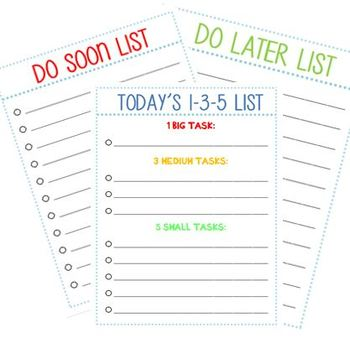 PRIORITIZED TO DO LISTS
