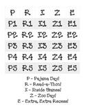 PRIZE Bingo Board for Good Behavior