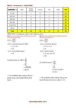 PROBABILITY QUESTIONS WORKSHEETS