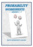 PROBABILITY WORKSHEETS FOR GRADES 4 - 7