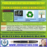 PROBLEM AND SOLUTION INFORMATION TEXT TASK CARDS