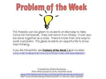 PROBLEM OF THE WEEK FREEBIE