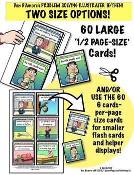 PROBLEM SOLVING ILLUSTRATED! SAFETY TOPICS!  60 Cards! Problems & Questions!