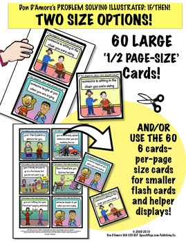 PROBLEM SOLVING ILLUSTRATED! SOCIAL TOPICS!  60 Cards! Problems & Questions!