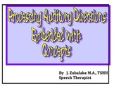 PROCESSING AUDITORY DIRECTIONS EMBEDDED WTH CONCEPTS for Speech Therapy