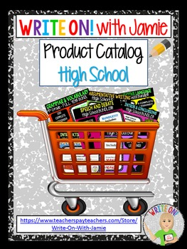 PRODUCT CATALOG for Write On! with Jamie - High School