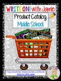 PRODUCT CATALOG for Write On! with Jamie - Middle School