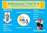 PRODUCTIVITY - INPUTS VERSUS OUTPUTS - POSTER