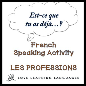 PROFESSIONS French Find Someone Who Activity:  Est-ce que tu as déjà…?