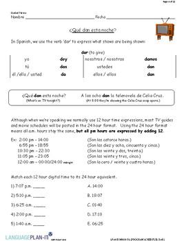 PROGRAM SCHEDULES, DAR (SPANISH)