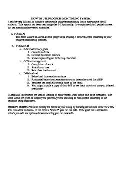 PROGRESS REPORT STUDENT ASSESSMENT FORM A