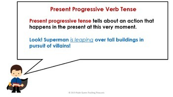 PROGRESSIVE VERB TENSE BUNDLE/CCSS Aligned 4th Grade Up