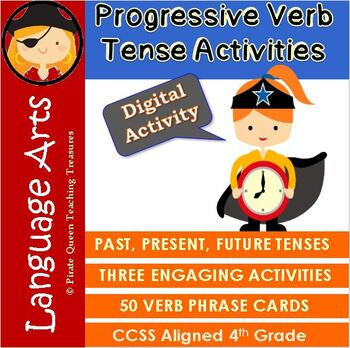 PROGRESSIVE VERBS Practice Activities CCSS Aligned