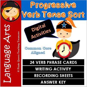 PROGRESSIVE VERBS Verb Tense Sort CCSS Aligned