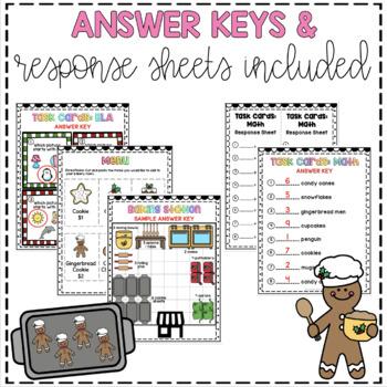 Gingerbread Project Based Learning December - Kindergarten