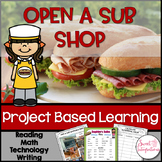 PROJECT BASED LEARNING MATH | Open a Sub Sandwich Shop