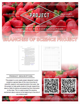 PROJECT - Branches of Science (Science)