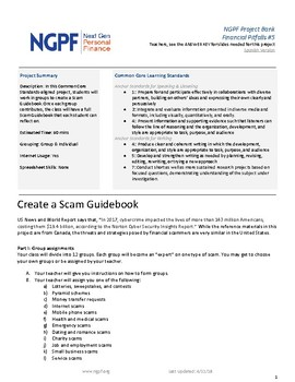 PROJECT: Create a Scam Guidebook