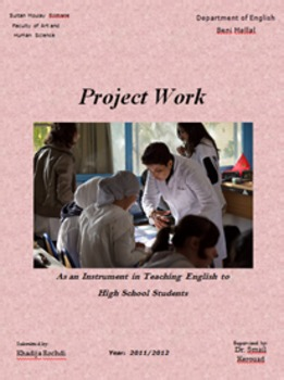 PROJECT WORK as an Instrument in teaching English in high school in Morocco