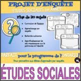 PROJET D'ENQUÊTE: ÉTUDES SOCIALES/patrimoine et identité (