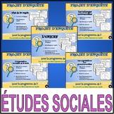 PROJET D'ENQUÊTE: ÉTUDES SOCIALES / ensemble complet