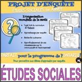 PROJET D'ENQUÊTE: ÉTUDES SOCIALES / l'OMS