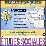 PROJET D'ENQUÊTE: ÉTUDES SOCIALES / l'UNICEF