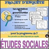 PROJET D'ENQUÊTE: ÉTUDES SOCIALES / les ONG