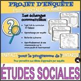 PROJET D'ENQUÊTE: ÉTUDES SOCIALES / les échanges commerciaux