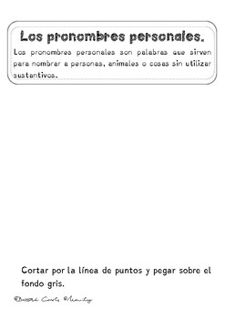 PRONOMBRES PERSONALES EN ESPAÑOL / Personal Pronouns in Spanish
