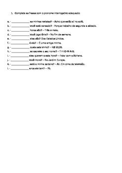 PRONOMES INTERROGATIVOS/ WH-QUESTIONS