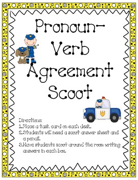 PRONOUN VERB SCOOT