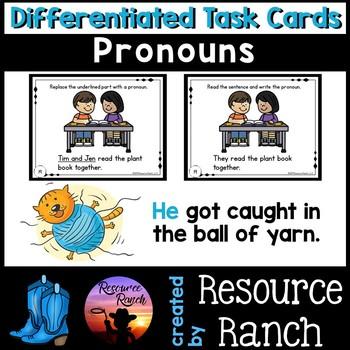 PRONOUNS - Task Cards