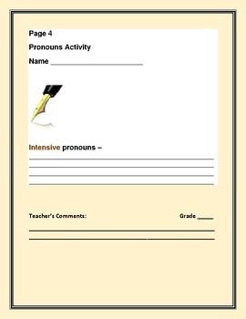 PRONOUNS: A GRAMMAR ACTIVITY