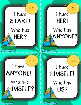 "PRONOUNS Game ""I Have, Who Has?"""