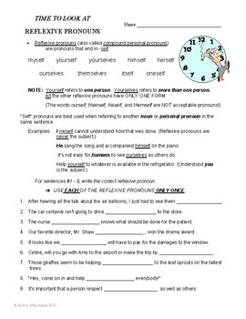 PRONOUNS Lessons, Worksheets, and Test