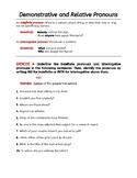 PRONOUNS, NOUNS, and ADJECTIVES. Parts of Speech Grammar W