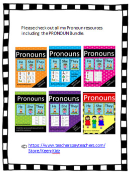 PRONOUNS READ AND DRAW