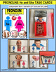 """PRONOUNS Task Cards HE and SHE """"Task Box Filler"""" for Special Education"""