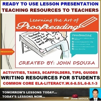 PROOFREADING: LESSON PRESENTATION