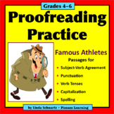 PROOFREADING PRACTICE: FAMOUS ATHLETES • GRADES 4–6