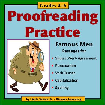 PROOFREADING PRACTICE: FAMOUS MEN  • GRADES 4–6